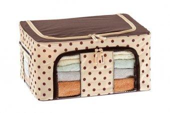 Хранение вещей в доме - Органайзер для вещей на каркасе 40х30х20см, бежевый с коричневым TD 0615 купить хранение вещей в доме. Интернет магазин POSUDAOK.